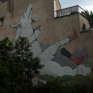 Mural Eric Il Cane przy Cybulskiego