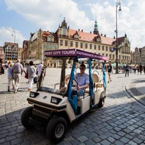 BEST CITY TOURS – zwiedzanie Wrocławia pojazdami elektrycznymi  melexami