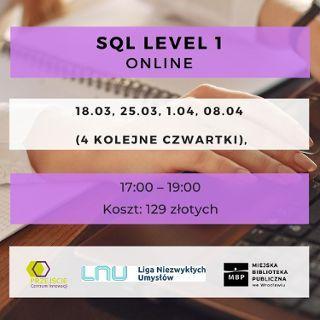 Zdjęcie wydarzenia SQL level 1 – kurs online