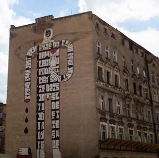 Mural przy ul. Ptasiej