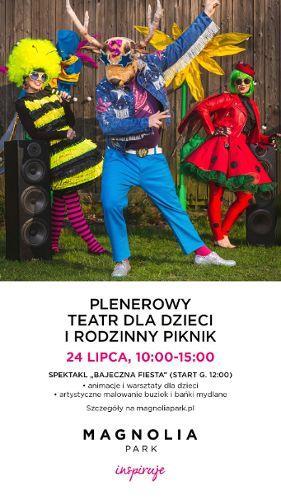 Zdjęcie wydarzenia Teatr plenerowy dla dzieci i piknik rodzinny