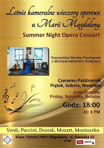 Zdjęcie wydarzenia Letnie Koncerty Operowe u  Marii Magdaleny